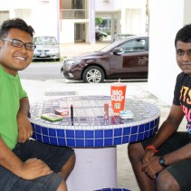 Fadhli (on the left) is a young singaporean studying pastry, while his friend Glenn is currently enrolled for National Service.