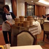 Traditional service in Dim Sum restaurant