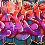 El rincón de los graffitis, en Gijón
