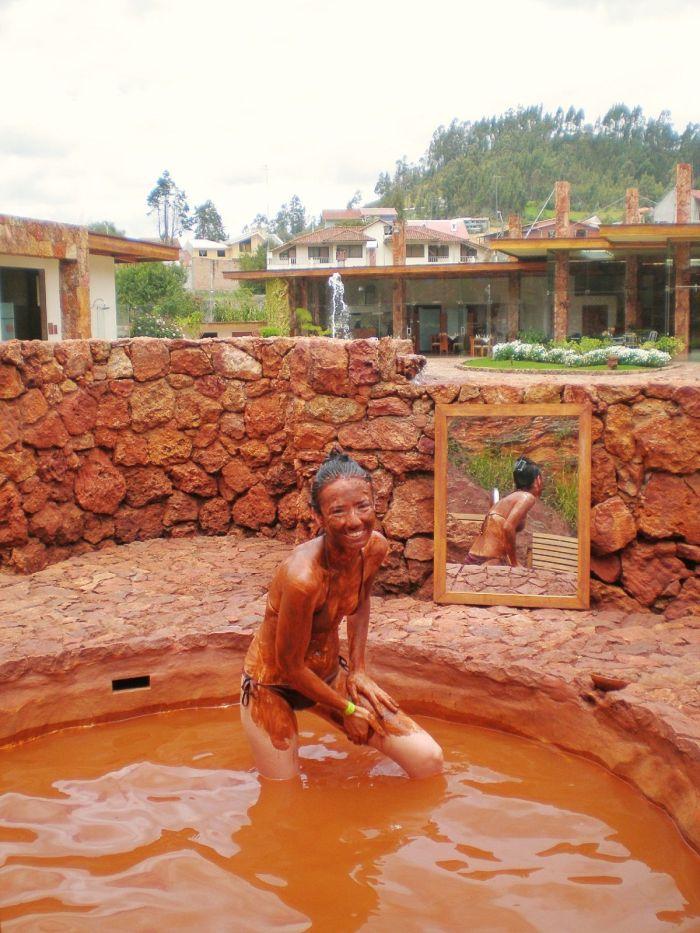 Baño de lodo en Cuenca