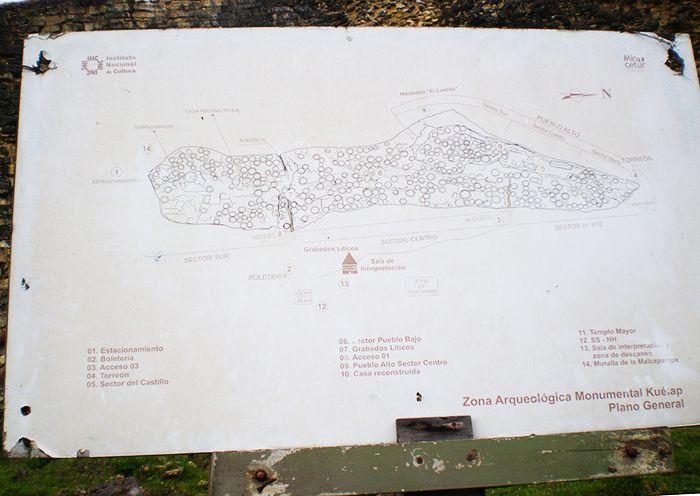 Mapa de Kuelap