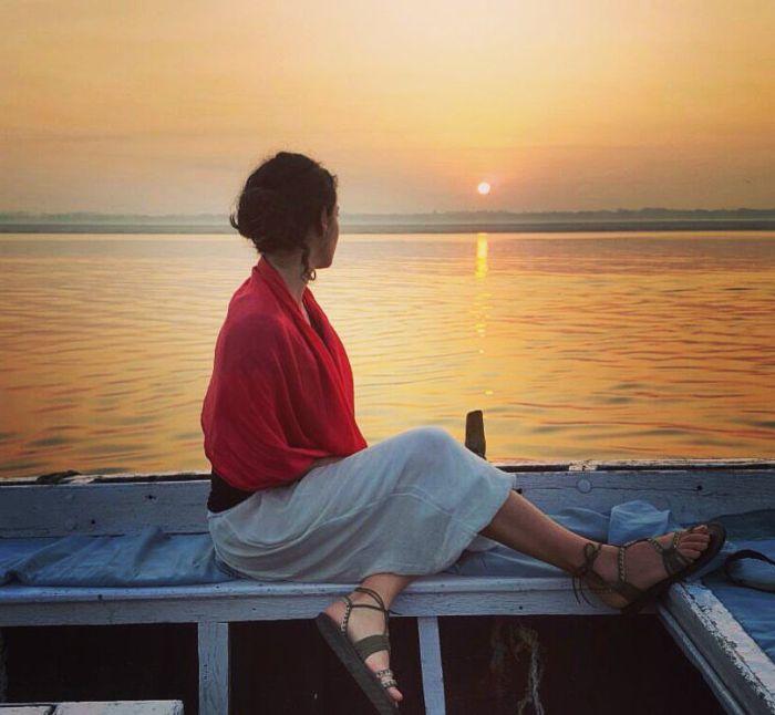 Los amaneceres en el río Ganges son inolvidables