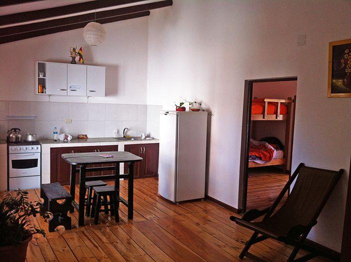 Cocina y zona común + un pedacito de mi habitación en CasArte Amalia