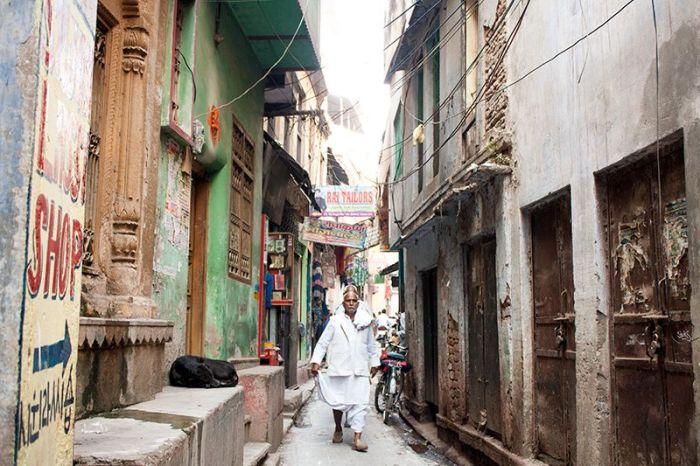 Estrechas calles en la zona más antigua de la ciudad