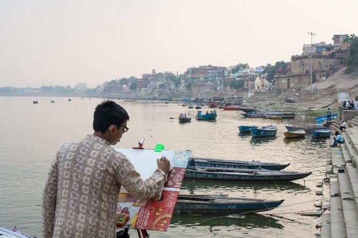 Pintando Varanasi