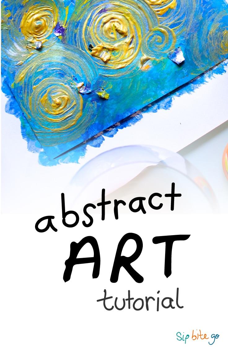Abstract Art DIY Tutorial for Beginners (with acrylics) | via sipbitego.com
