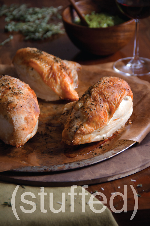 Goat Cheese Stuffed Roast Chicken | Sippity Sup