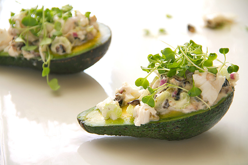 Oil-Poached Fish: Halibut and Avocado Salad - SippitySup