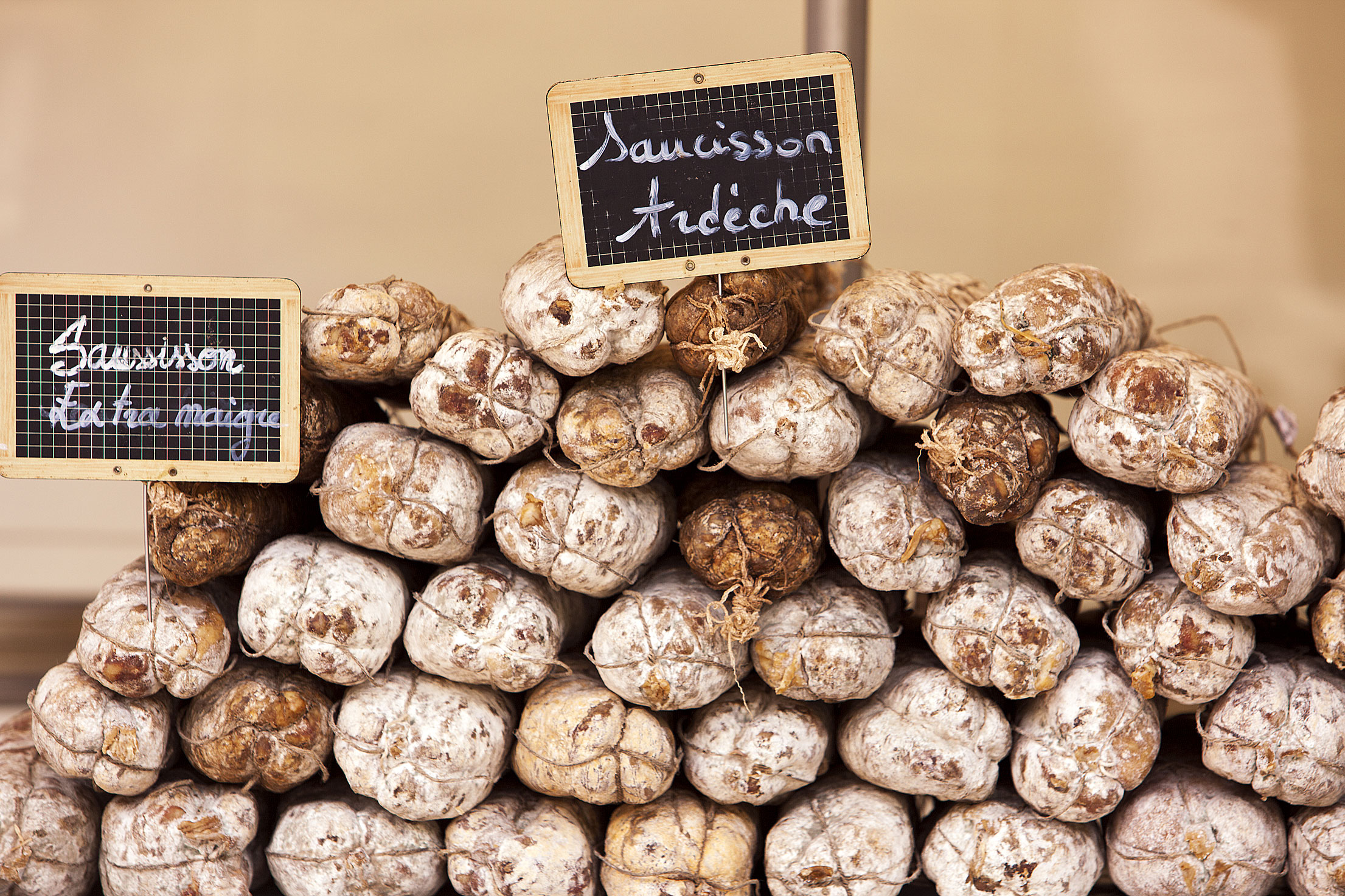 Saucisson from the Ardèche in the Rhône-Alps, France