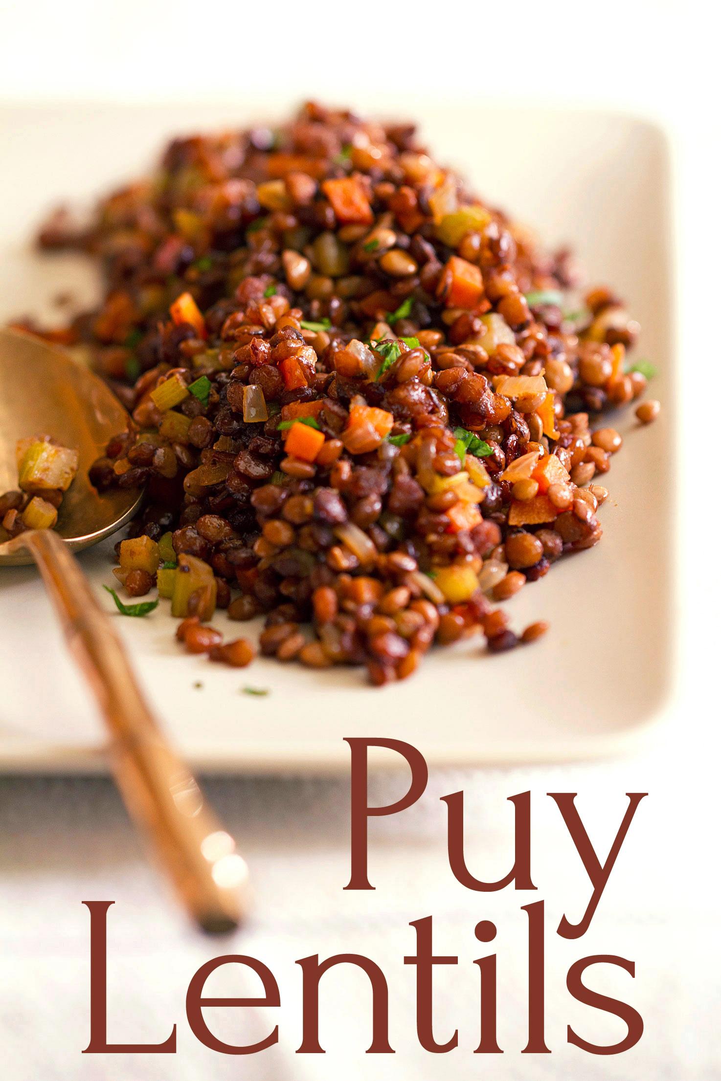 Caramelized Puy Lentils