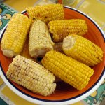 corn on the cob with hot sauce