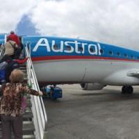 Ida y vuelta a Mar del Plata en el día con un Embraer de Austral