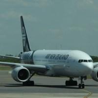 La llegada del primer vuelo de Air New Zealand a Ezeiza