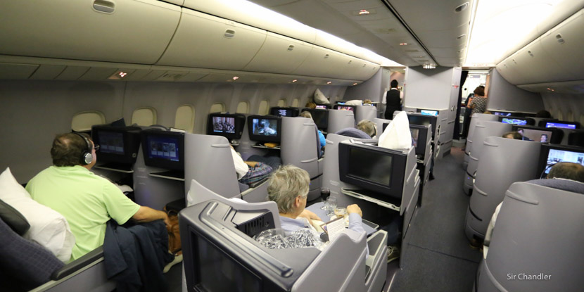 Volando en la business de United rumbo a Buenos Aires