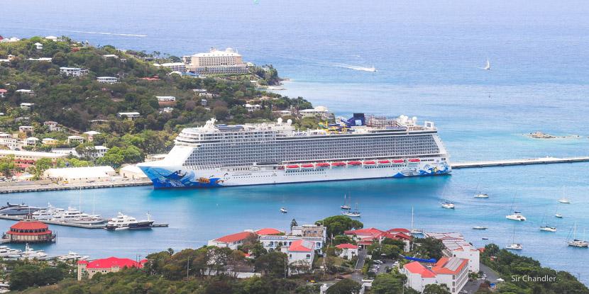 Parando con el crucero en Saint Thomas