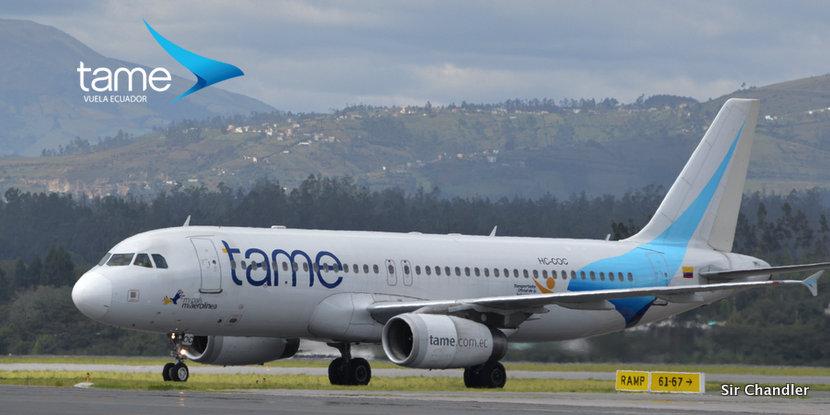 TAME realiza su último vuelo a Buenos Aires