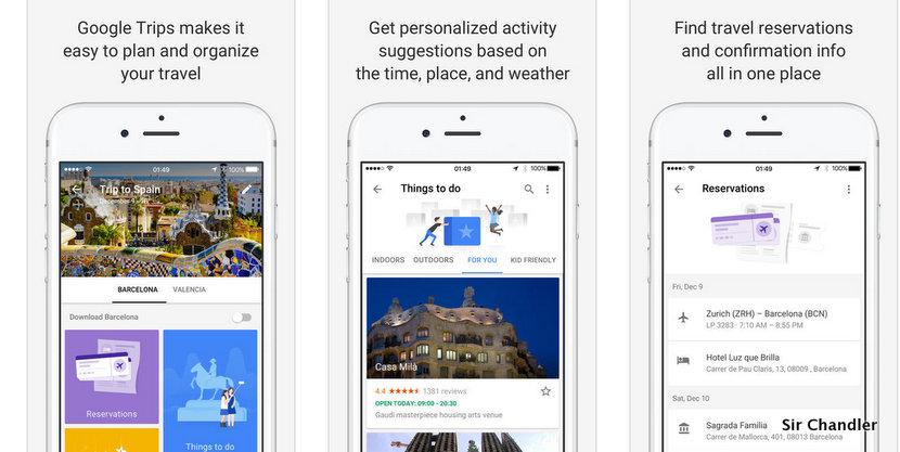 Análisis preliminar de la aplicación Google Trips