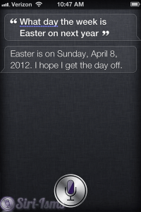 What Day Of The Week Is Easter Next Year? - Siri Says