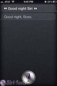 Good Night Siri ~ Siri Quotes