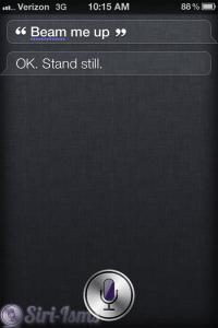 Beam Me Up Siri