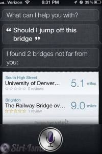 Should I Jump Off This Bridge? What Does Siri Say?