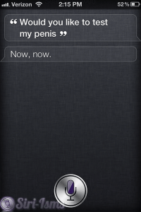 Would You Like To Test My Penis? Siri Quotes