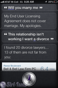 Will You Marry Me? Siri Says...