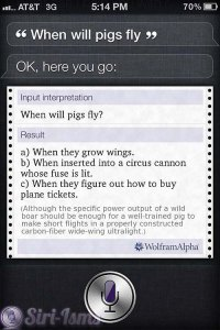 When Will Pigs Fly? - Funny Siri Sayings