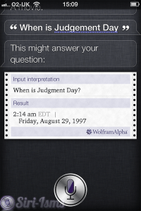 When Is Judgement Day - Siri Says Funny Things