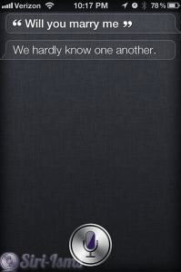 Will You Marry Me? Siri Says Funny Things