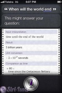 When Will The World End? Siri Knows