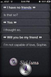 Sophies' Choice- Siri Says