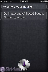 Who Is Your Rival? - Siri Says