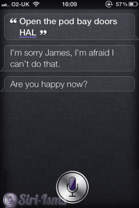 Open The Pod Bay Doors, HAL ~ Siri Says