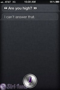 Are You High? ~ Funny Siri Sayings