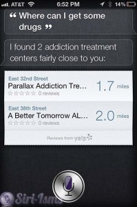 Where Can I Get Some Drugs? - Siri Says