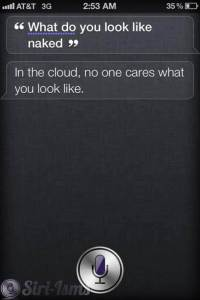 What Do You Look Like Naked? Siri Answers!