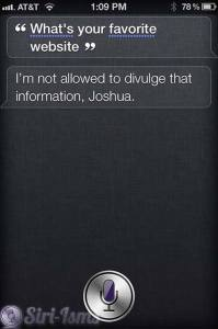 What's Your Favorite Website? Siri Doesn't Say
