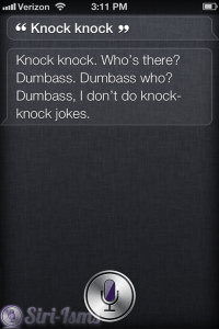 Knock Knock... Siri Does Not See The Humor In Them