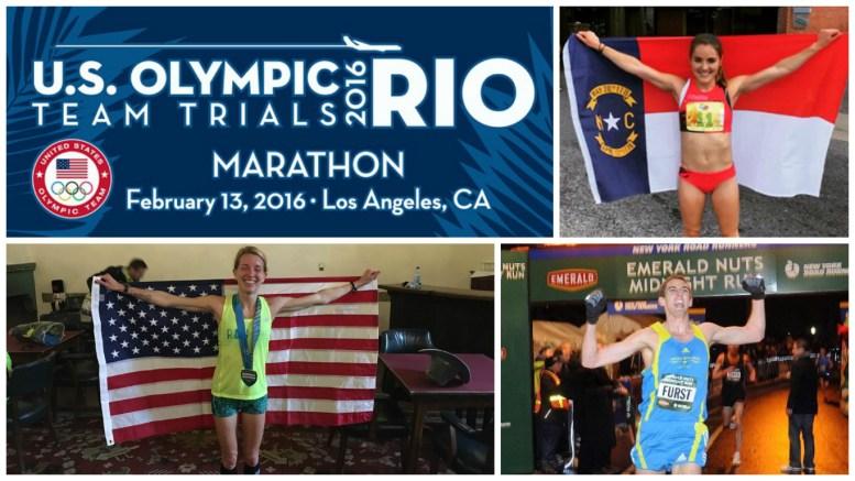 Raleigh Best Marathoners (clockwise from left: Andie Cozzarelli, Stephen Furst, Melissa Hardesty)