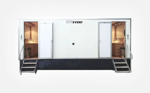 Vacuum toilet trailers for event hire
