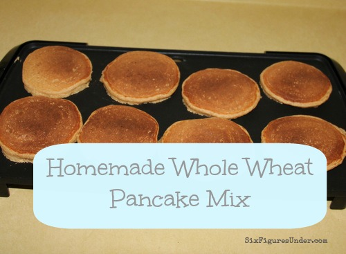 Yummy Homemade Whole Wheat Pancake Mix
