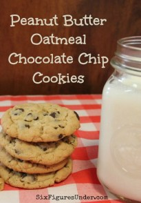 Peanut Butter Oatmeal Chocolate Chip Cookies - Six Figures Under
