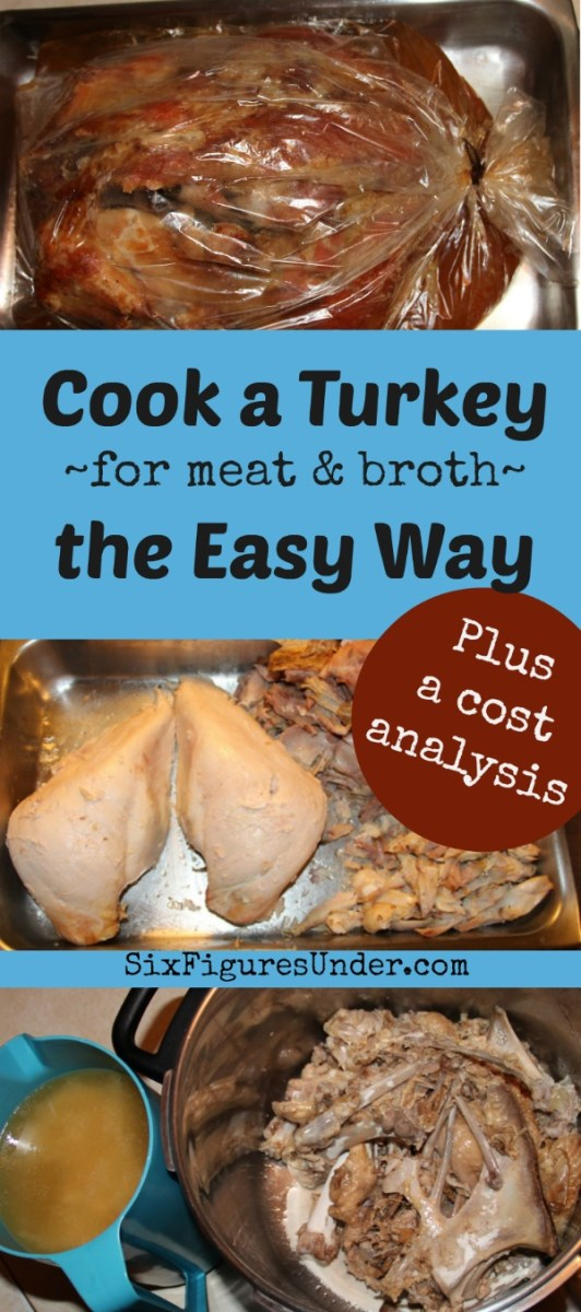 Easy Way to Cook a Turkey for Meat and Broth-- plus cost analysis!