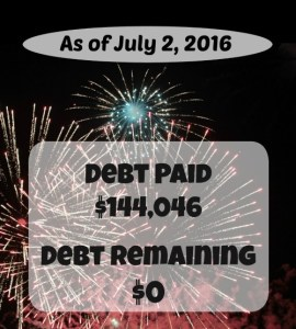 July 2016 Debt Repayment Progress Report