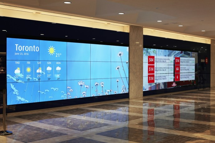 BMO CDM Video Wall