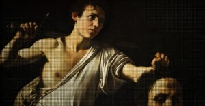 Detail from Caravaggio's David with the Head of Goliath (Vienna)