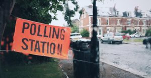 Polling Station in Jesmond, UK