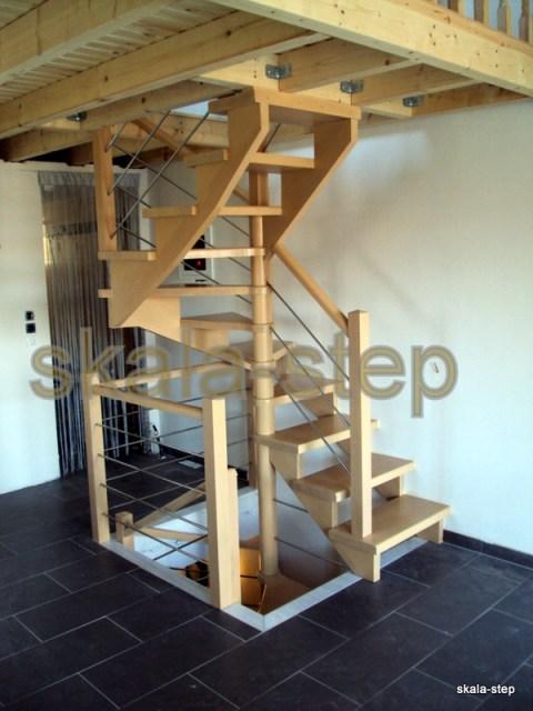 εναέρια διπλή σκάλα με κορμό