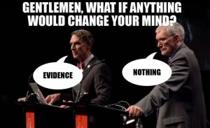 Bill Nye likes evidence. Ken Ham, like all creationists, ignores evidence.